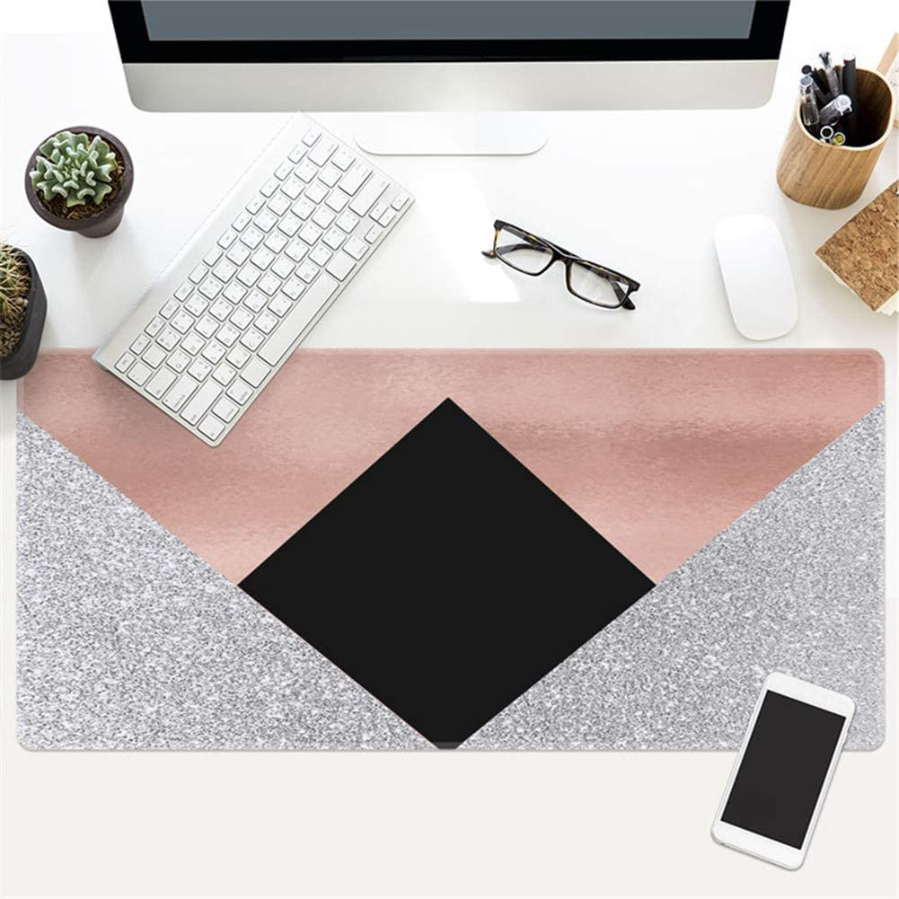 22, 900 x 400 x 3 mm LL-COEUR XL Marble Gaming Mouse Pad Computer Keyboard Mat Office Desk Pad