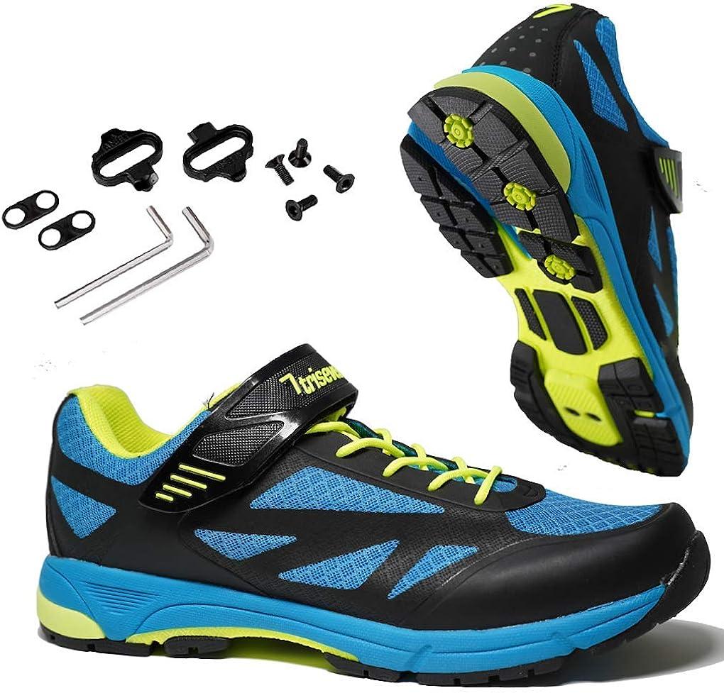 TriSeven Zapatillas de MTB Montaña: ¡Cuero sintético Ligero y ...