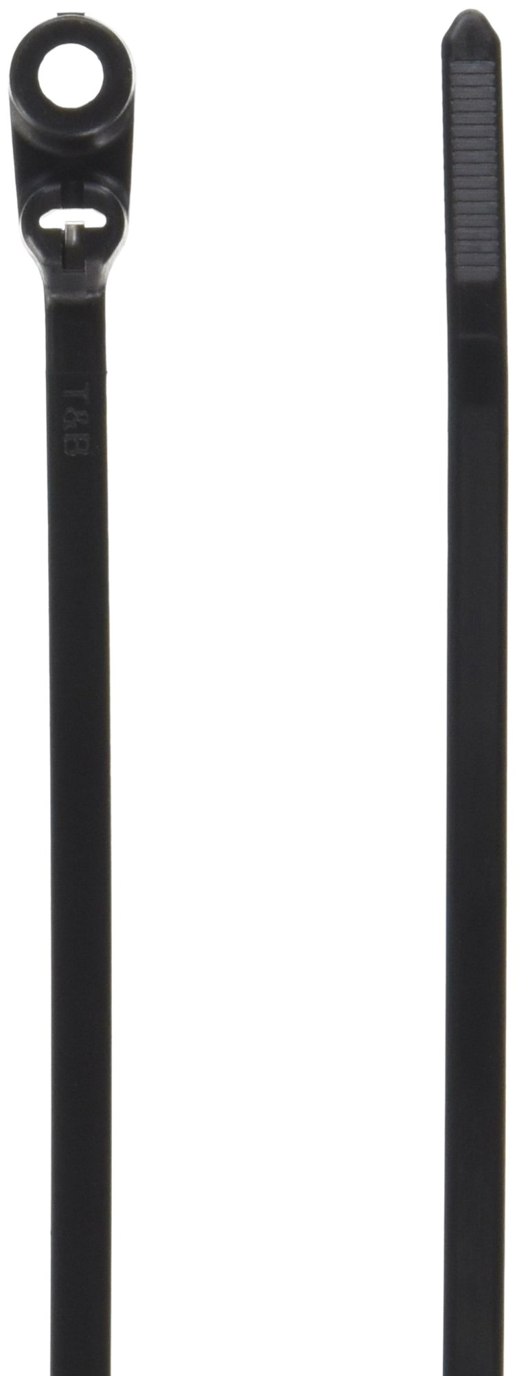 Thomas & Betts TY535MX Cable Tie, UV Resistant Nylon, 50 lb, 8'', 10 Mounting Hole, Black (Pack of 100)