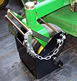 Mower Holder Large, Secure Caster Tire of any Lawn Mower, Locking Capabilities