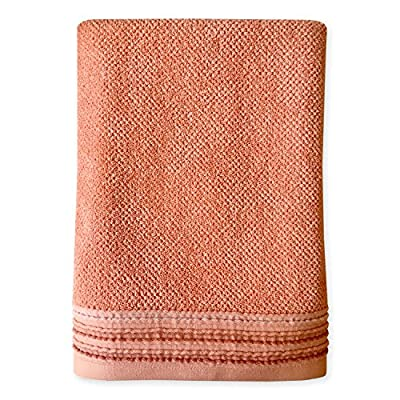Dena Modern Solid Bath Towel, Coral, - Pair with other members of the Modern line Made of 100Percent Cotton Machine wash cold with like colors - bathroom-linens, bathroom, bath-towels - 616V7TEReUL. SS400  -
