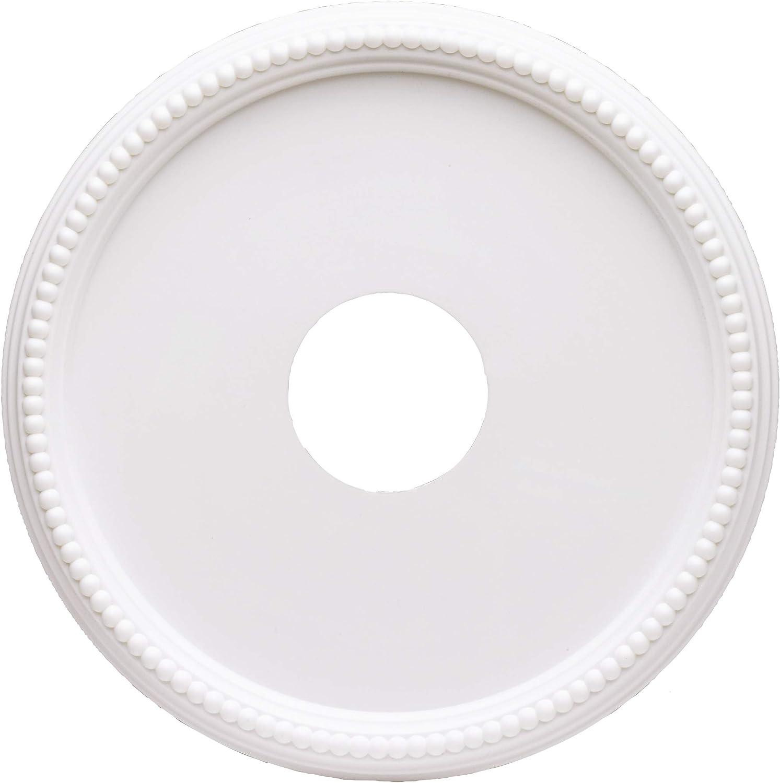 Westinghouse Lighting 77733 Rosetón para techo con acabado blanco y borde de cuentas 40 cm