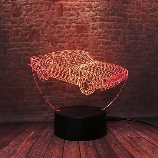 Lámpara de ilusión 3D para coche Luz de noche de regalo de ...