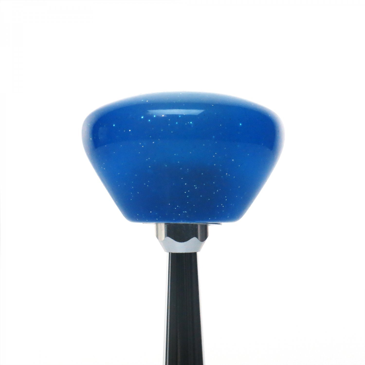 Pink Lightning Crossed Blue Retro Metal Flake with M16 x 1.5 Insert American Shifter 289789 Shift Knob