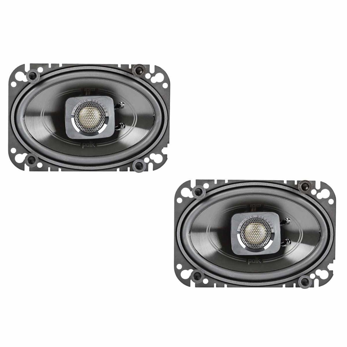 Polk Audio DB462 DB+ Series 4''x6'' Coaxial Speakers with Marine Certification, Black