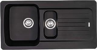 Franke Aveta 1.5 Bowl Black Tectonite Reversibile Lavello da cucina e rifiuti