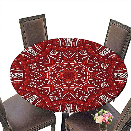 Rectangle Red Magnet (PINAFORE Circular Table Cover Winter red Christmas Greeting for Wedding/Banquet 31.5