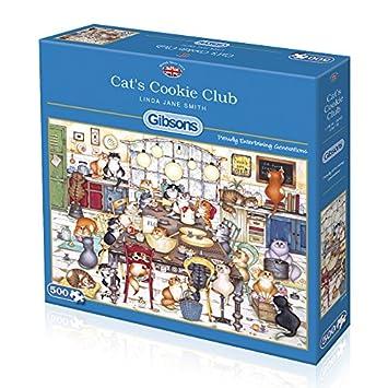 Gibsons - Puzzle de Galletas de Gato (500 Piezas): Amazon.es ...