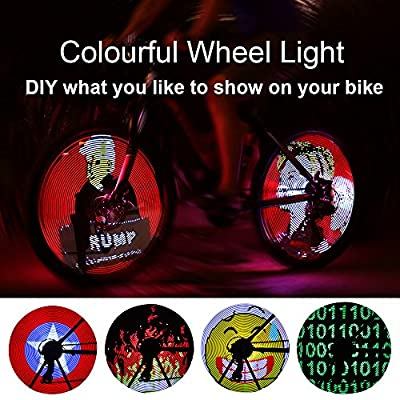 YIER LED Bike Wheel Light with Auto Open and Close - Ultra Bright LED-Colorful Bicycle Tire Accessories- Waterproof