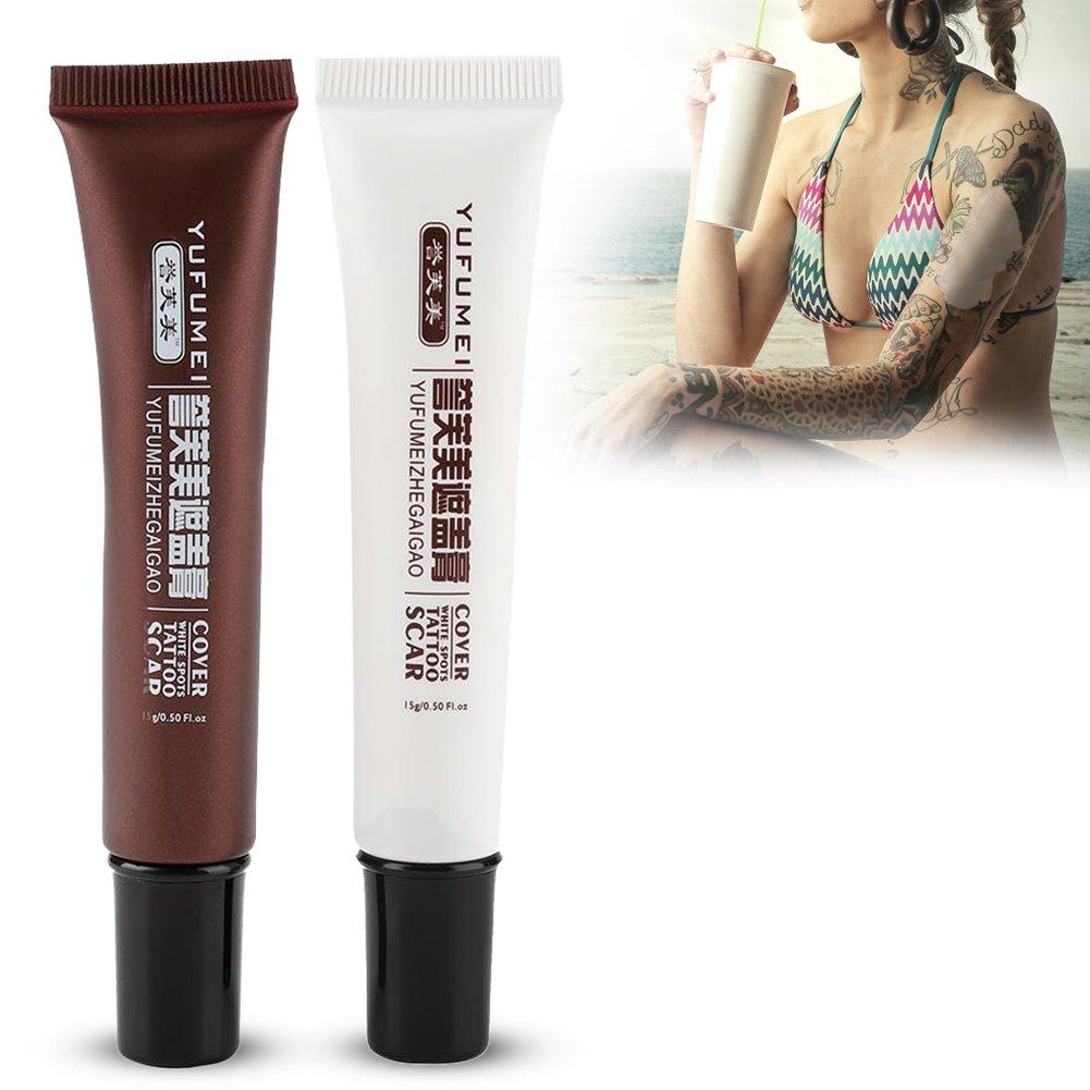 Best Scar Cream,Tattoo Cover Up Concealer Professional Waterproof Vitiligo Hiding Spots Birthmarks Makeup Set for Age Spots & Cover Bruises