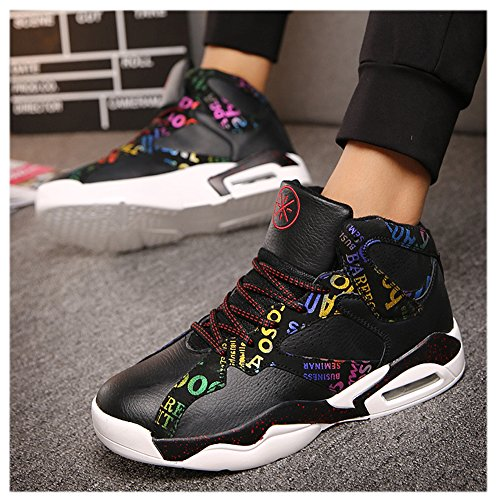 Zapatillas De Deporte Scurtain Hombres Performance Fashion Zapatillas De Baloncesto Deportivas Shock Absorption Black