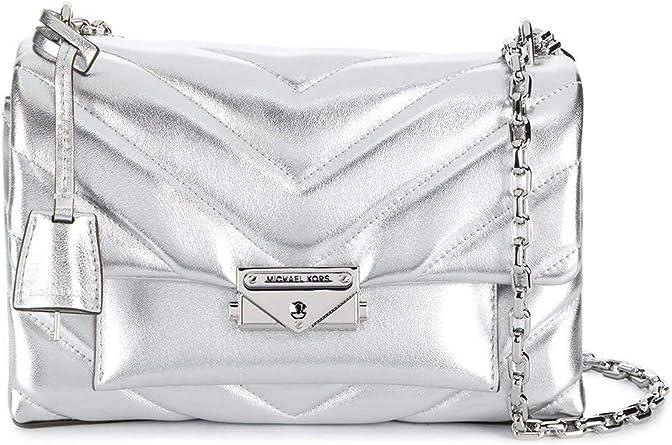 Michael Kors Luxury Fashion Femme 30H9S0EL6K040 Argent Cuir Sac ...