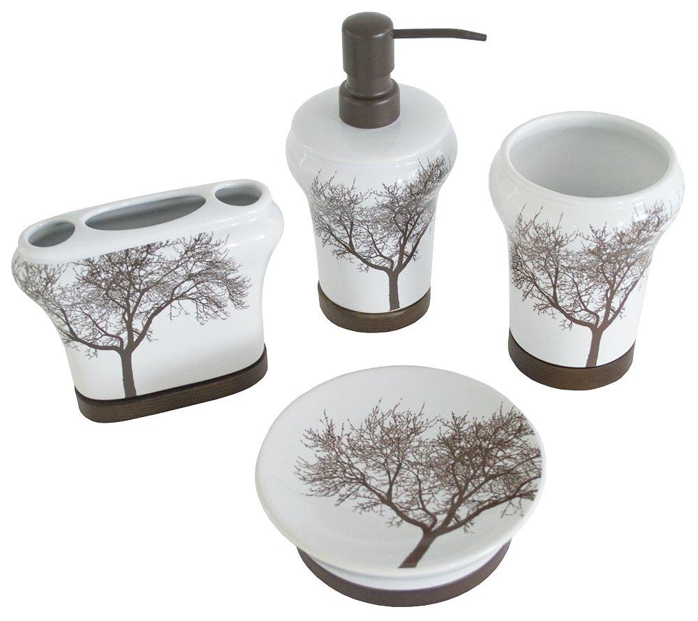 Amazon.com: Splash Home 4-Piece Tree Set: Home & Kitchen