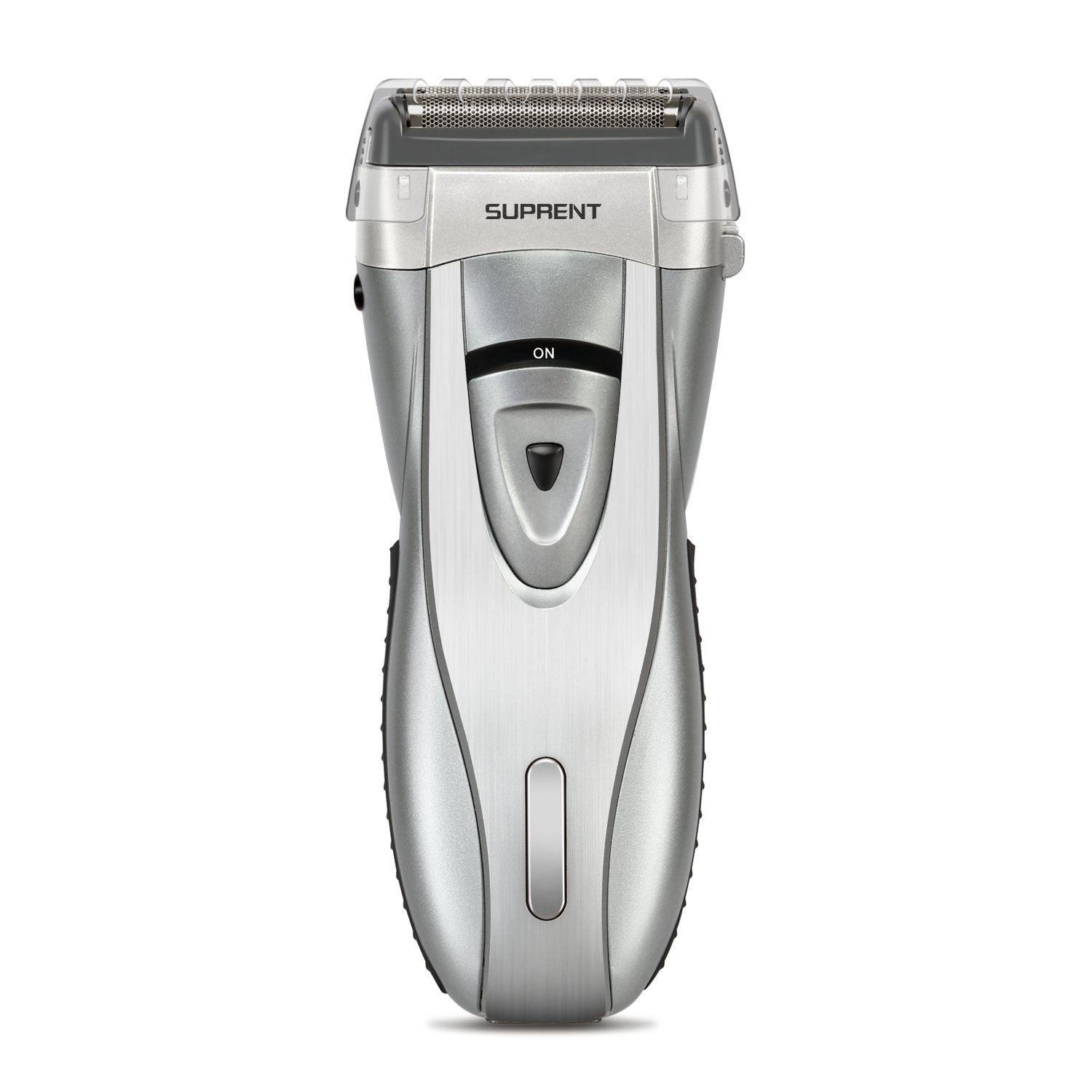 SUPRENT Electric Foil Shaver, 4-Blade Electric Razor For Men,Shaver with Lithium Ion Battery and Push-up Precision Trimmer, Safe Travel Lock Silver