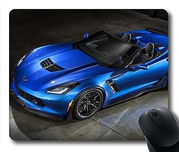 amazon com gaming mouse pad corvette blue car personalized