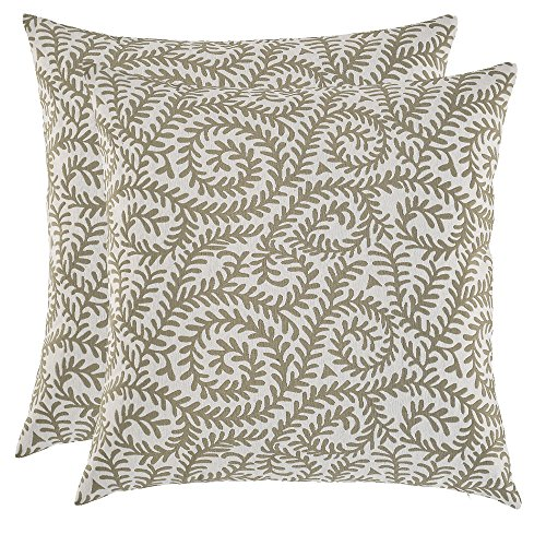 Artcest Set of 2, Decorative Cotton Blend Jacquard Bed Throw Pillow Case, Sofa Durable Paisley Pattern, Comfortable Couch Cushion Cover, 16