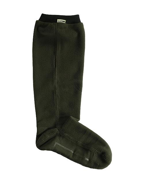 Nuevo cazador campo forro polar de altura ajustable botas de calcetines verde oscuro Verde verde oliva M: Amazon.es: Ropa y accesorios