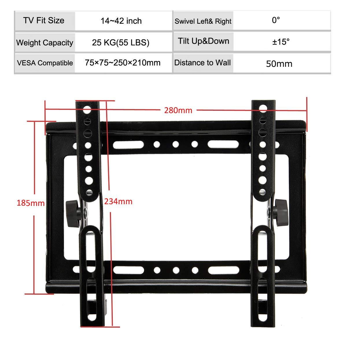 """Tilt Swivel Ceiling Mount TV LCD LED Bracket For 23 27 29 32 35 37 38 39 40 42/"""""""