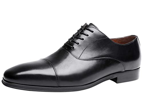9b53d5d75ec4e Santimon Oxford for Men Classic Lace Up Pointed Toe Formal Leather ...