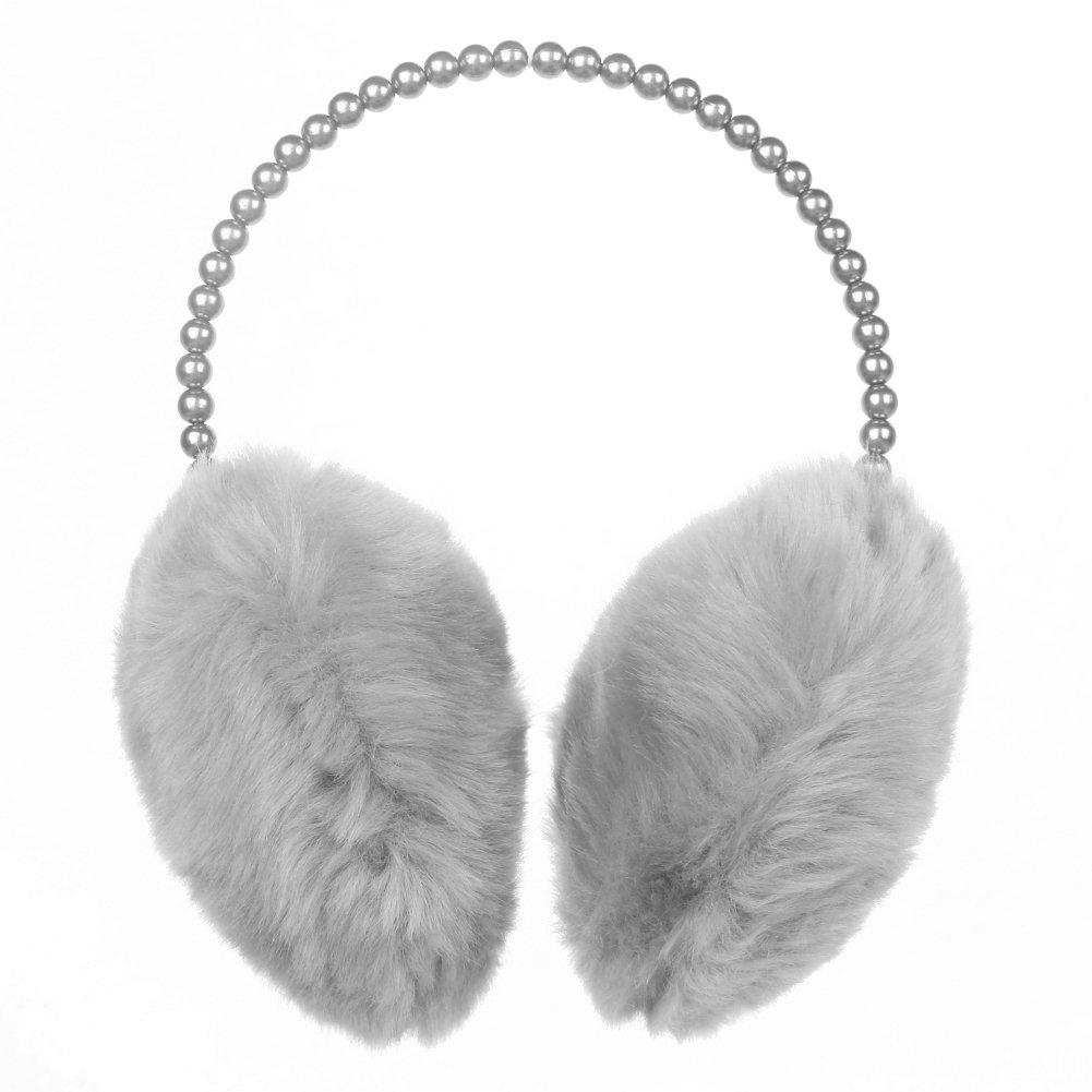 LYFF Pearl Plush Earmuffs, Warm Fur Earmuffs, Hair Ornaments for Women