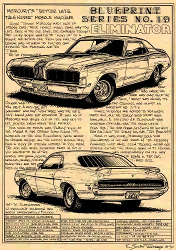 1970 Mercury Cougar Eliminator Art Print