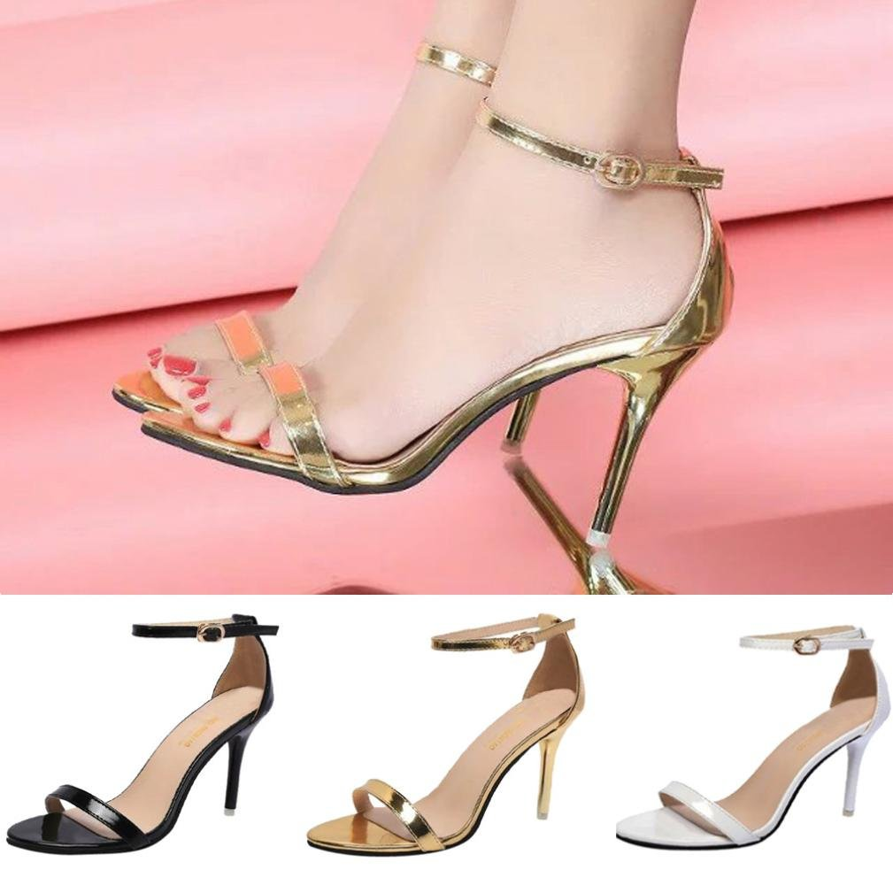 95209ce5e0 Amazon.com | Sandals for Womens, FORUU Girl Buckle Pointed Toe Pumps-Slip  On Work High Heel | Heeled Sandals
