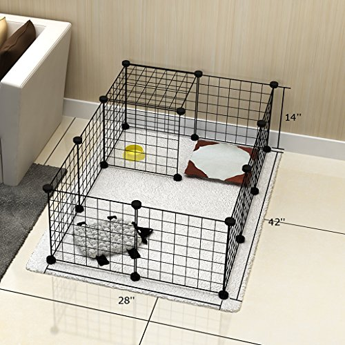 Tespo Dog Playpen, Indoor Portable Metal Wire Yard Fence For Animals, Popup  Kennel Crate Fence Tent, Black 12 Panels From CB06PA