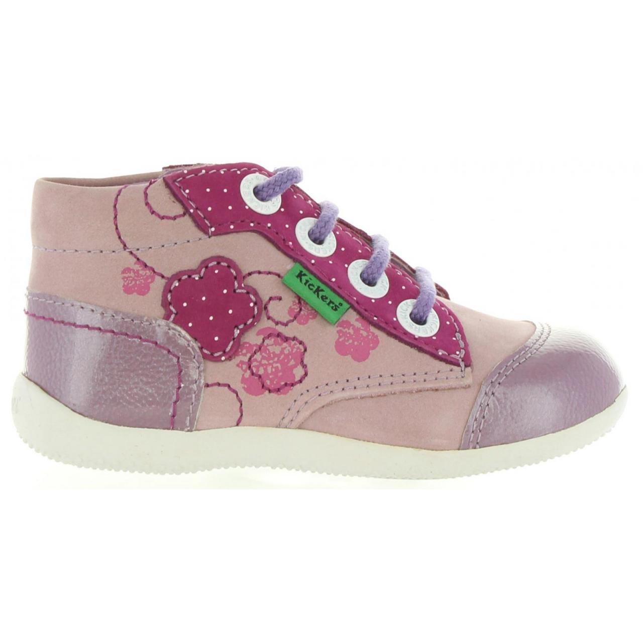 Kickers Bibounow, Chaussures Bébé marche fille