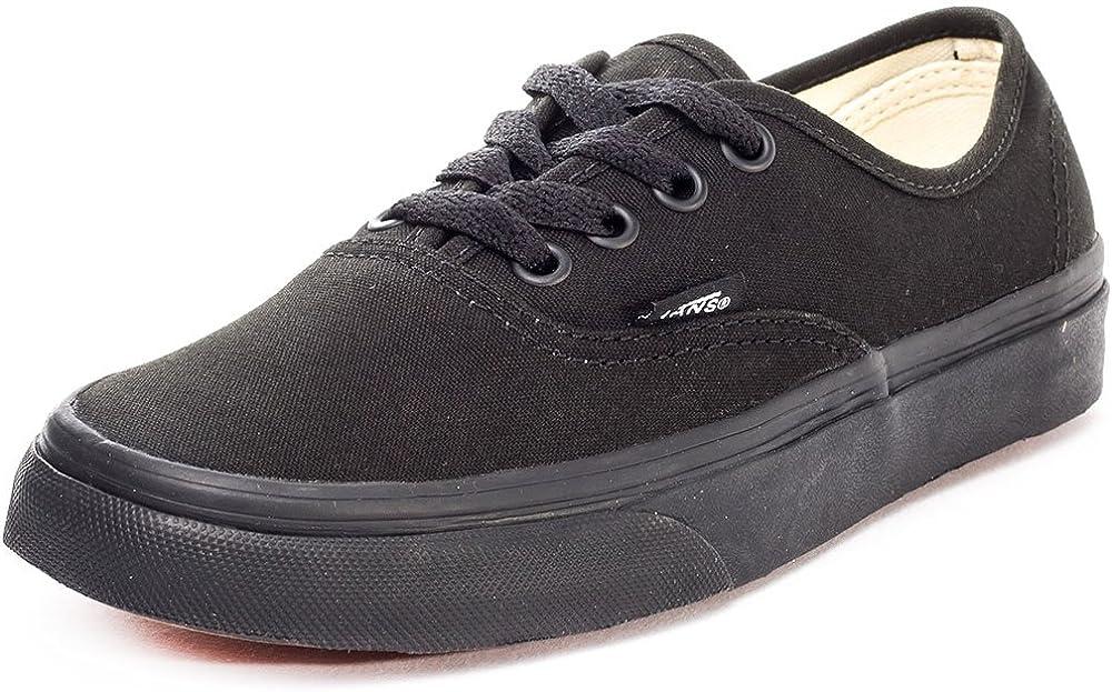 Vans Unisex Authentic Black/Black Canvas VN000EE3BKA Skate Shoe