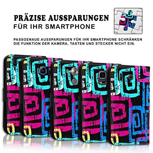 Wallet Book Style Flip Handy Tasche Case Schutz Hülle Schale Motiv Etui für Apple iPhone 6 / 6S - Design Flip MVD196