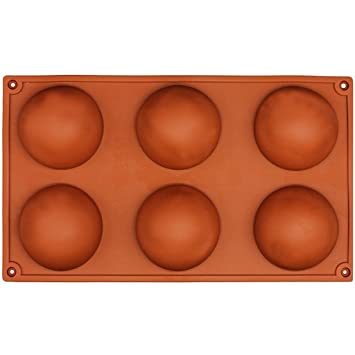 Molde de silicona para horno de 6 agujeros para repostería de chocolate o pastelería: Amazon.es: Hogar