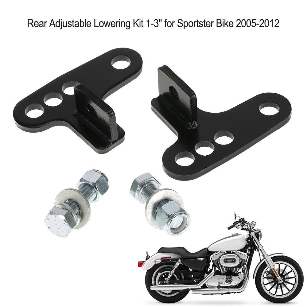 KKmoon Kit de Bajada Ajustable Trasera, 1-3' para Harley Sportster 2005-2012 1-3 para Harley Sportster 2005-2012