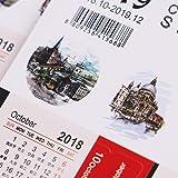 Haiabei 8 Sets/16 Sheets Mini 2018-2019 Calendars
