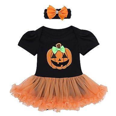 YiZYiF Vestido Halloween para Bebé Niñas Mameluco Body Disfraz ...
