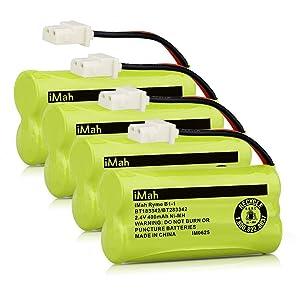 iMah BT183342/BT283342 2.4V 400mAh Ni-MH Phone Battery Pack Compatible with VTech CS6509 CS6519 CS6719 at&T EL50003 EL52200 EL52500 CL80111 Handset Telephone, Pack of 4