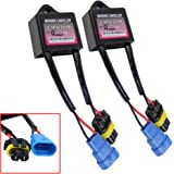 Xenon HID Light Conversion Kit Anti-flicker Decoder Warning Canceller Capacitor Warning Canceller Hid Ballast Error Code Eliminator(Pack of 2)
