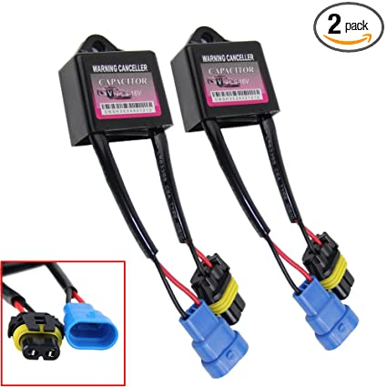 HID Kit Computer Warning Canceller Capacitor Anti Flicker Hid Ballast Error  Code Eliminator-2 sets