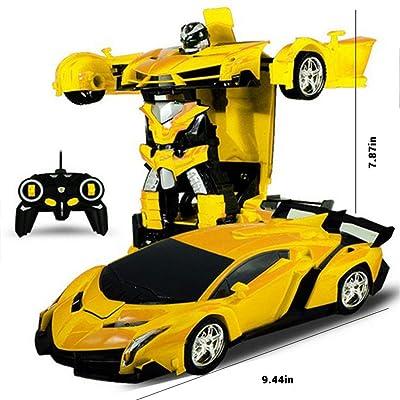 Kastma RC Transformer Robot Car Remote Controlled Transformers Auto & Robot Transformable One-Touch Transforming: Home & Kitchen