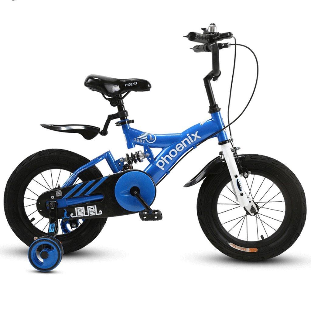 子供の自転車ベビーベビーカー2-12歳の少女サイクリングボーイ18インチキッズバイク (色 : A, サイズ さいず : 14 inches) B07D3R9861 14 inches|A A 14 inches