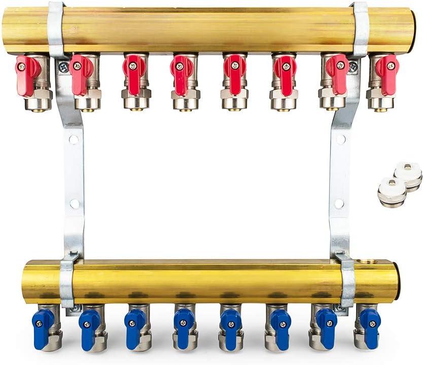 Messing Heizkreisverteiler 2-12 fach Verteiler Heizkreise Heizung 12 Heizkreise