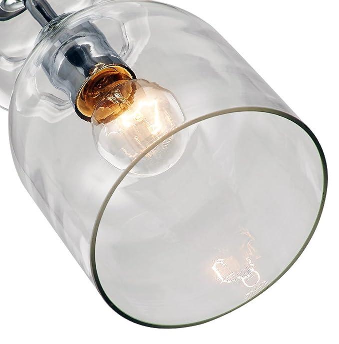 Base de Lámpara de Techo Colgante Moderna y Exclusiva, con Vidrio en Forma de Botella por Haysoms: Amazon.es: Iluminación
