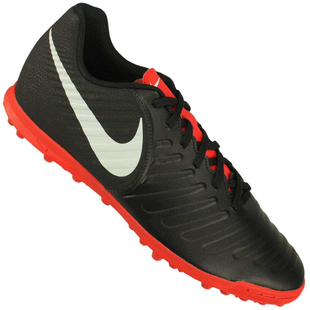 5663cf6305d9 Nike Men s Legend 7 Club TF Black Pure Platinum-LT Crimson Football Shoes  (AH7248-006) (UK-8 (US-9))  Buy Online at Low Prices in India - Amazon.in