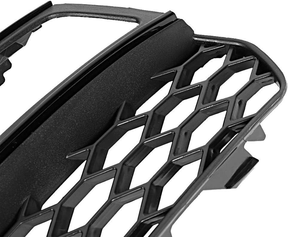 1 paire de calandre pare-brise avec garniture noire Compatible avec les Audi A3 S-Line S3 13-16 Grille de phare antibrouillard