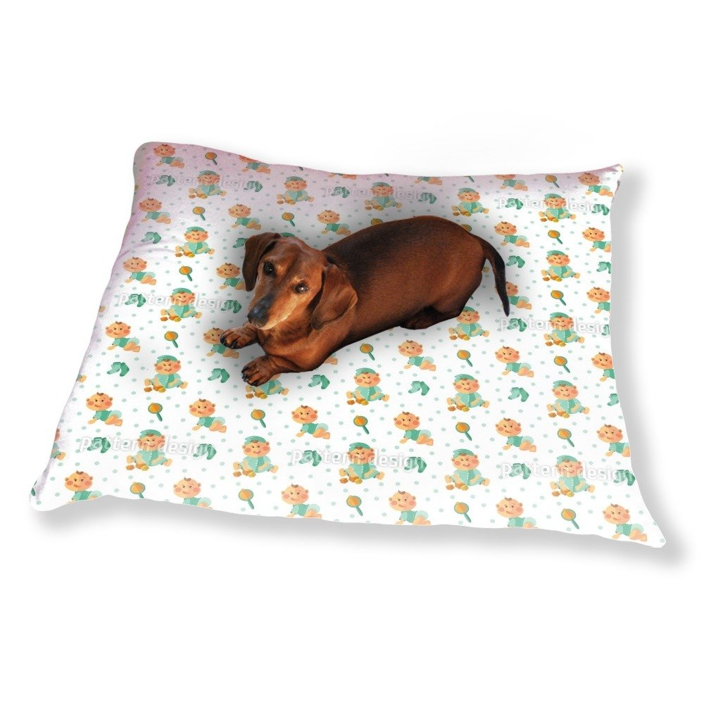 Baby Boy And Toy Dog Pillow Luxury Dog / Cat Pet Bed