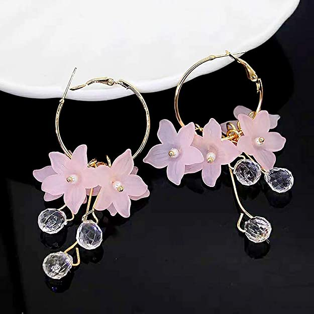 Bratty Bat Yellow Flower Oval Resin Earrings Present Gift For Her Christmas Birthday Handmade Floral Flower Jewellery