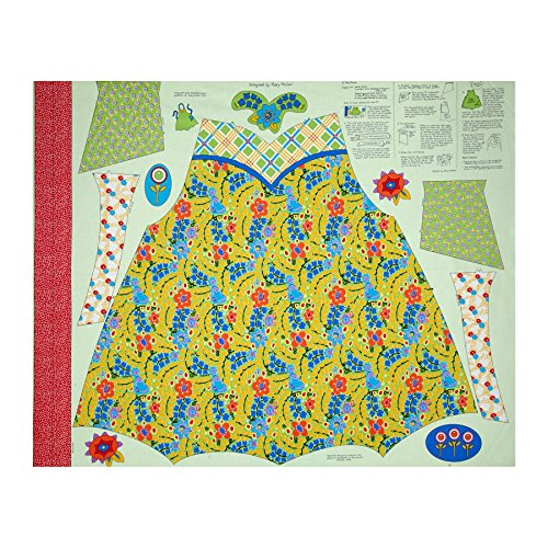 Penny Rose Chatterbox Aprons 36in Panel Green Fabric - Apron Panel