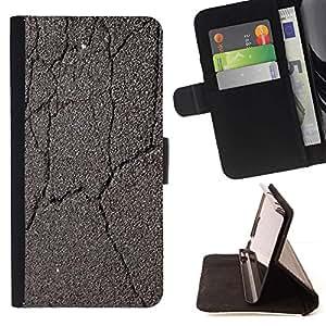 For Sony Xperia Z3 Compact / Z3 Mini (Not Z3) Case , Agrietado camino Coche Conducir Gris- la tarjeta de Crédito Slots PU Funda de cuero Monedero caso cubierta de piel