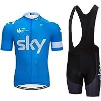 ZHLCYCL Conjunto Ropa Equipacion, Ciclismo Maillot y Culotte Pantalones Cortos con 5D Gel Pad para Verano Deportes al Aire Libre Ciclo Bicicleta