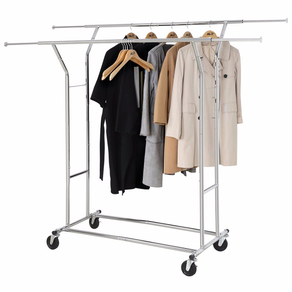 HLC Adjustable Supreme Commercial Grade Clothing Garment Rack