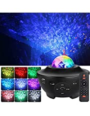 Star Projector, Night Light Projector with LED Nebula Cloud, 3 in 1 Ocean Wave Projector with Bluetooth Music Speaker & Timer Function, Galaxy Projector for Kids Bedroom/Game Room/Home Theatre/Room Decor/Night Light Ambiance